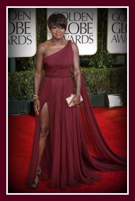 Viola Davis at the 2012 Golden Globe Awards on Exshoesme.com