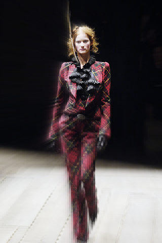 Alexander McQueen FW06 Red Tartan Suit on Exshoesme.com