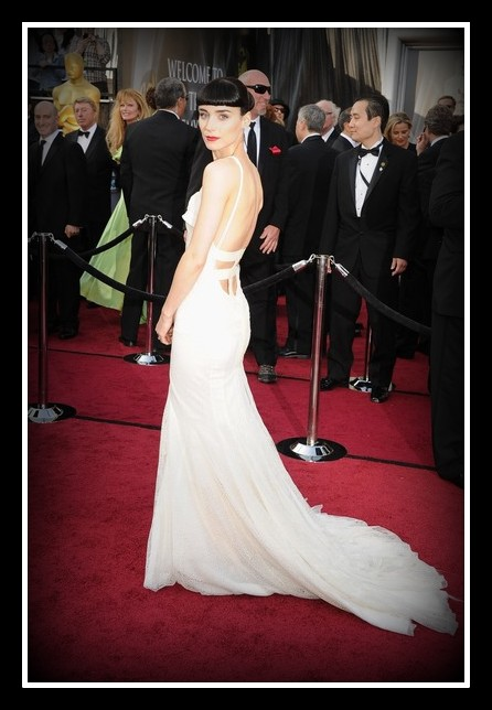 Back of Rooney Mara's Givenchy Couture Gown at the 2012 Oscars on Exshoesme.com