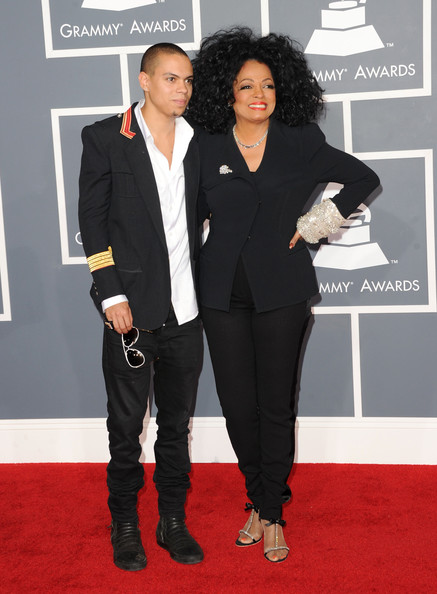 Diana and Evan Ross at the 2012 Grammy Awards on Exshoesme.com