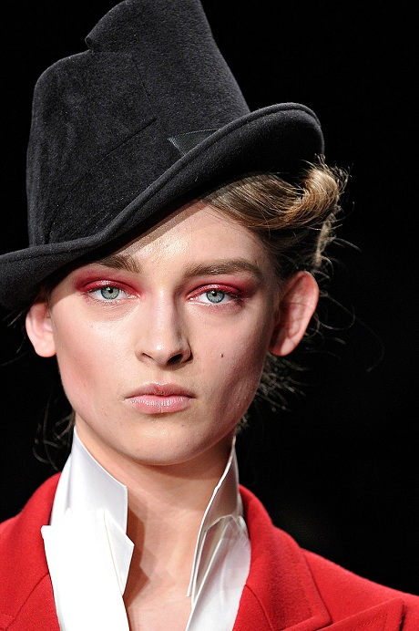Donna Karan FW12 Black Felt Hat and Coat on Exshoesme.com