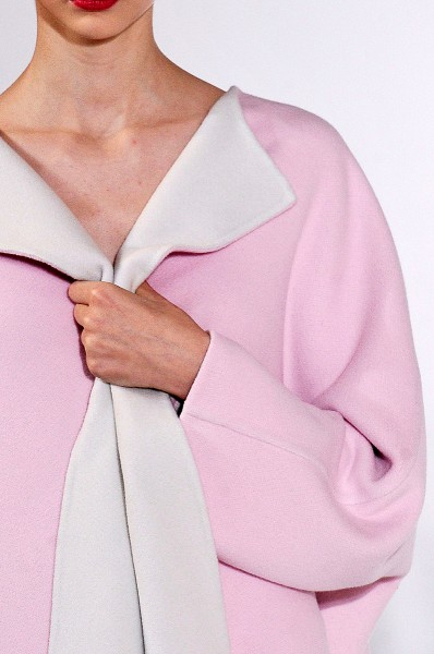 Jil Sander FW12 Pink Coat with White Lapels on Exshoesme.com