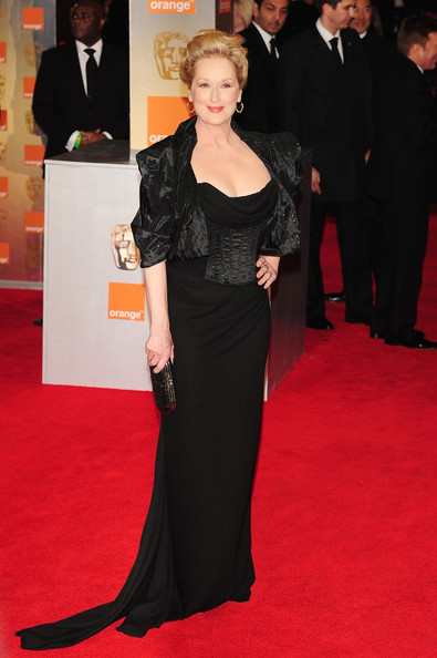 Meryl Streep in Vivienne Westwood at the 2012 BAFTAs on Exshoesme.com