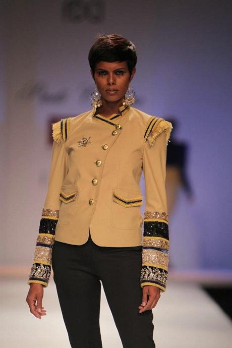 Preeti Chandra AW12 Tan Band Jacket on Exshoesme.com