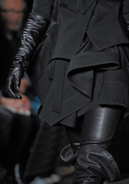 Ann Demeulemeester FW12 Black Ruffled Jacket on Exshoesme.com
