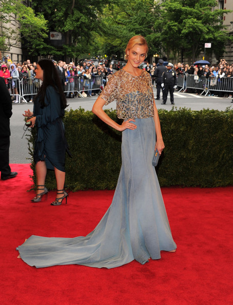 Caroline Trentini  in Olivier Theyskens at the Metropolitan Museum of Art Gala 2012 on Exshoesme.com