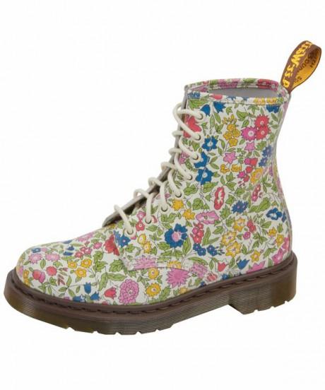 Dr. Martens Flower Liberty Print 8 Hole Boots on Exshoesme.com
