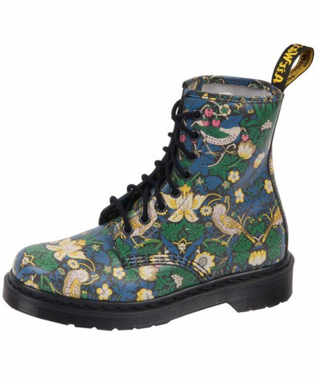 Dr. Martens Strawberry Thief Liberty Print 8 Hole Boots on Exshoesme.com