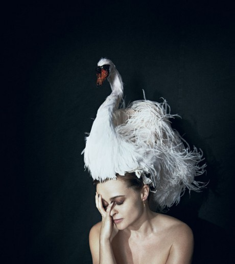 Helena Bonham Carter photographed by Peter Lindbergh for May 2012 Interview Magazine on Exshoesme.com