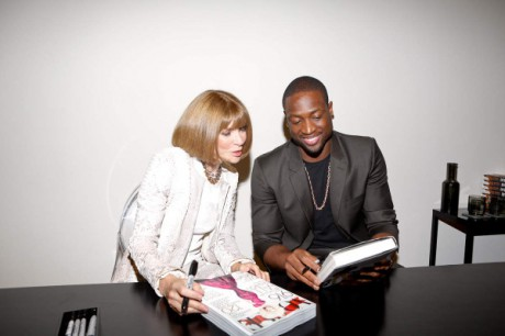 2. Anna Wintour with Dwayne Wade at Calvin Klein during Fashion's Night Out 2012, NYC. Photo: Mat Szwajkos for Swig Social