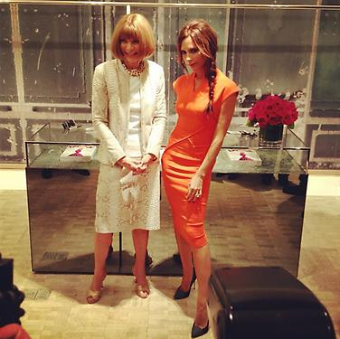 4. Anna Wintour at Bergdorf Goodman during Fashion's Night Out 2012 in New York With Victoria Beckham Photo via @schwopping