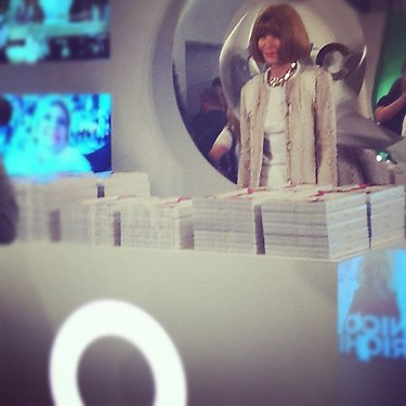 5. Anna Wintour at QVC during Fashion's Night Out 2012 in New York Photo via @QVC