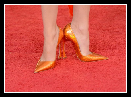Marion Cotillard in Dior shoes at the 2013 Golden Globe Awards on Exshoesme.com. Photo Jason Merritt