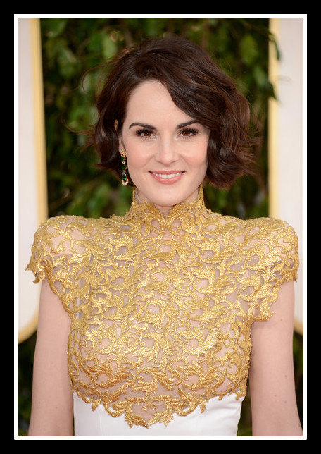 Michelle Dockery in Alexandre Vauthier Couture at the 2013 Golden Globe Awards on Exshoesme.com Photo Jason Merritt Getty Images North America