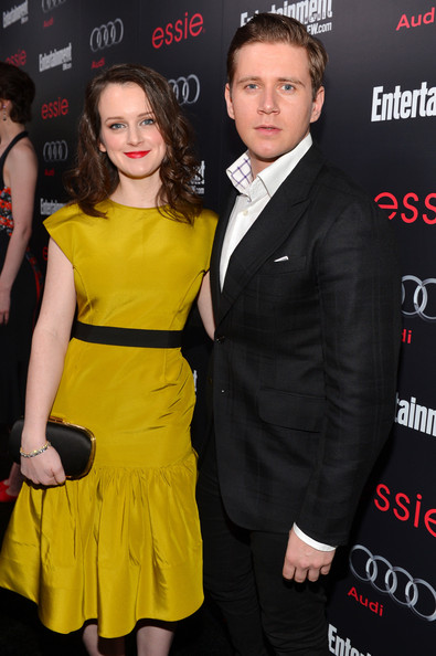 Sophie McShera and Allen Leech attend the Entertainment Weekly Pre-SAG Party at Chateau Marmont on January 26, 2013 on Exshoesme.com