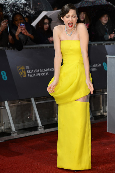 Marion Cotillard in Christian Dior Couture at the 2013 BAFTAs on Exshoesme.com. Photo by Ian Gavan Getty Images Europe