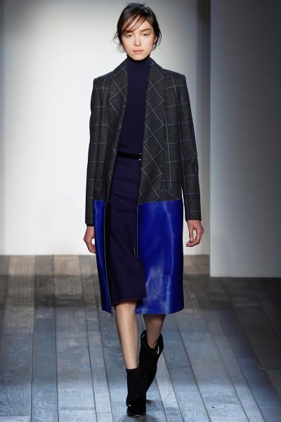 Victoria Beckham FW13 Electri Blue Accent Coat on Exshoesme.com