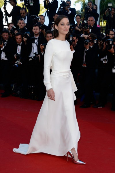 Marion Cotillard in Dior PF13 at the 2013 Cannes Film Festival Premiere of the The Immigrant on Exshoesme.com Photo Pascal Le Segretain