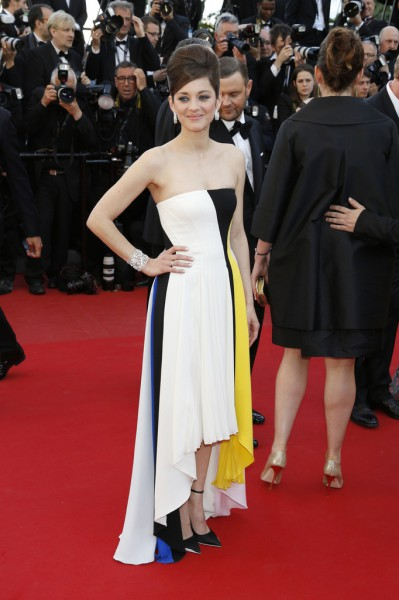 Marion Cotillard in Dior PS14 at the 2013 Cannes Film Festival Premiere of the The Immigrant on Exshoesme.com Photo Pacific Coast News