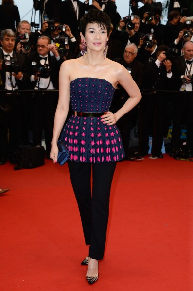 Zhang Ziyi at the Cannes 2013 Opening Ceremony on Exshoesme.com. Photo Pascal Le Segretain