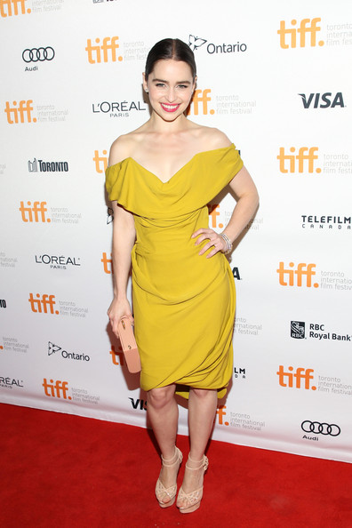 5. Emilia Clarke in Vivienne Westwood at the Dom Hemingway premiere at the 2013 Toronto International Film Festival #TIFF13 on Exshoesme.com. Jonathan Leibson photo