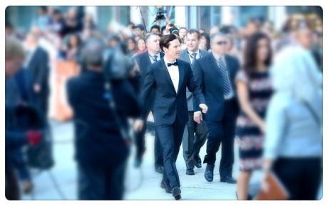 Benedict Cumberbatch at the Premiere of The Fifth Estate at the 2013 Toronto International Film Festival #TIFF13 on Exshoesme.com Jason Merritt photo