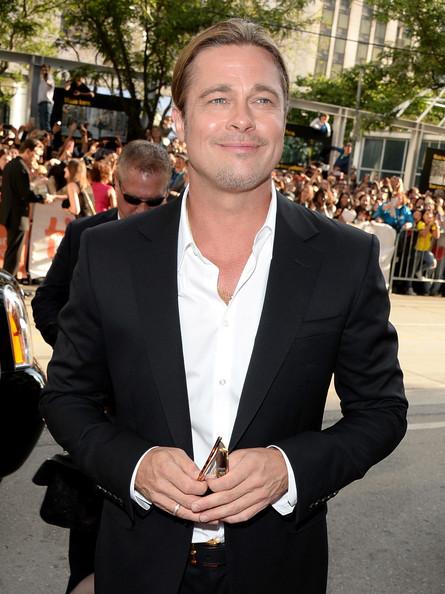 Brad Pitt at 12 Years a Slave premiere at the 2013 Toronto International Film Festival #TIFF13 on Exshoesme.com. Jason Merritt photo