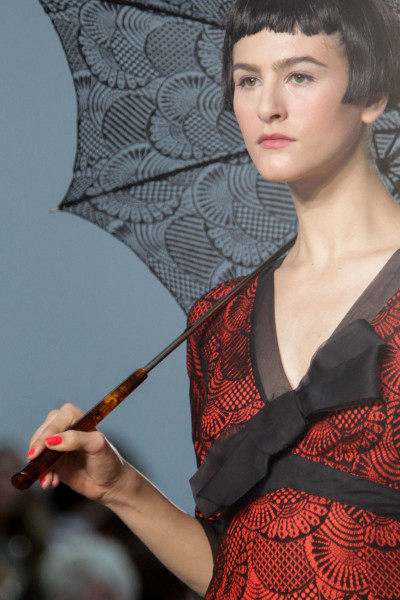 L'Wren Scott SS14 black and red printed dress on Exshoesme.com  (1)