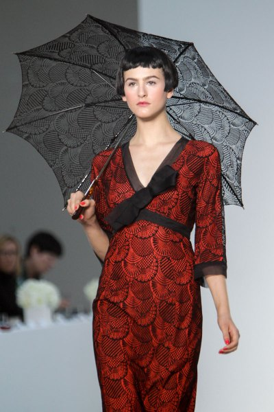 L'Wren Scott SS14 black and red printed dress on Exshoesme.com  (2)