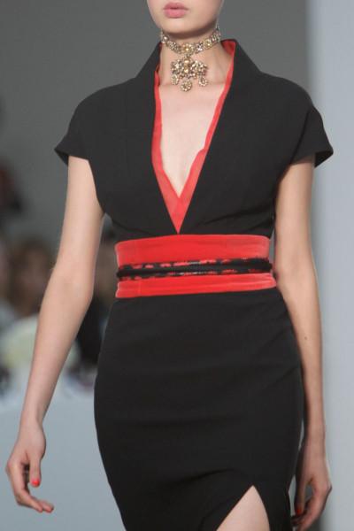 L'Wren Scott SS14black and red slim dress on Exshoesme.com  (1)