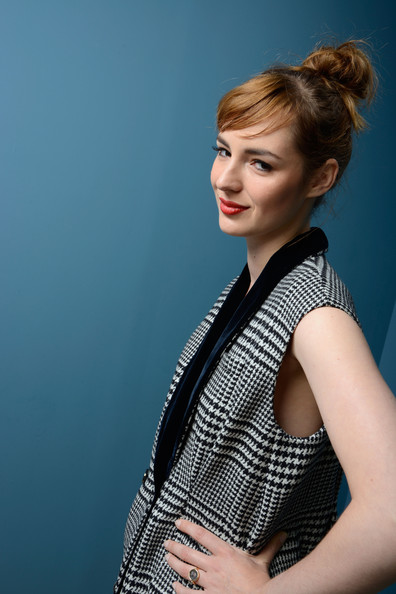 Louise Bourgoin in the Guess Portrait Studio  at the 2013 Toronto International Film Festival #TIFF13 on Exshoesme.com. Larry Busacca photo