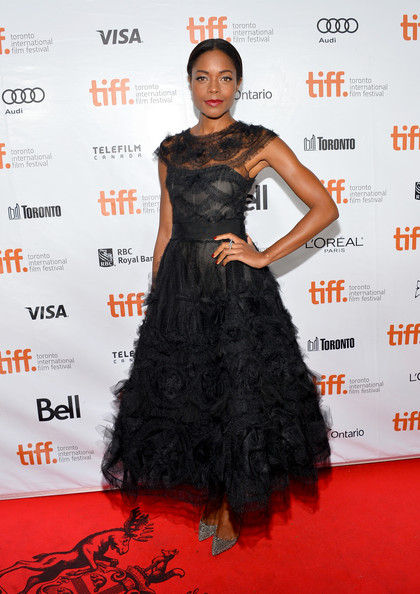 Naomie Harris in Marchesa at Mandela - Long Walk to Freedom premiere at the 2013 Toronto International Film Festival #TIFF13 on Exshoesme.com. Amanda Edwards