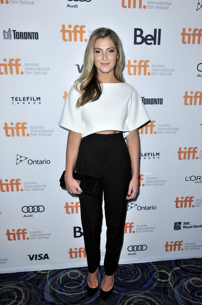 Zoe Levin at Beneath The Harvest Sky premiere at the 2013 Toronto International Film Festival #TIFF13 on Exshoesme.com. Jerrod Harris photo