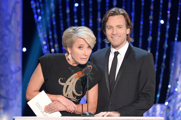 Emma Thompson and Ewan McGregor at the 2014 SAG Awards on Exshoesme.com. Kevork Djansezian Getty photo