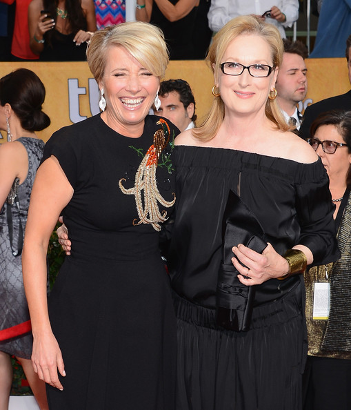 Emma Thompson and Meryl Streep at the 2014 SAG Awards on Exshoesme.com. Ethan Miller Getty photo