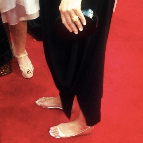 Emma Thompson in Louboutin flats at the 2014 SAG Awards on Exshoesme.com. @CNNshowbiz photo
