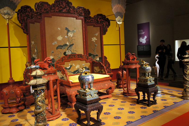 Imperial throne set from The Forbidden City Exhibition at the Royal Ontario Museum March 2014 on Exshoesme.com. Photo by Jyotika Malhotra