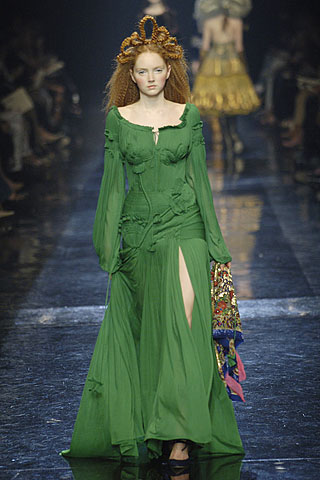 Jean Paul Gaultier Fall 2005 Haute Couture green gown on Exshoesme