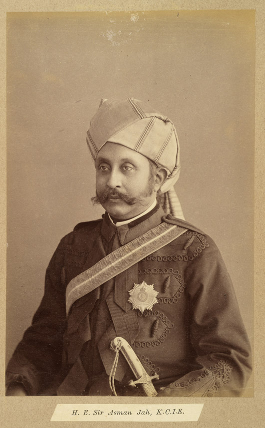 5. Prime Minister of Hyderabad, Sir Asman Jah; circa 1887, Raja Deen Dayal