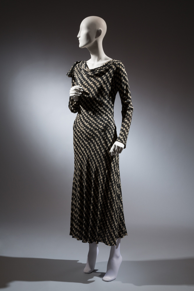 Augustabernard Gown Black-and-white printed silk 1929, France The Museum at FIT, 71.268.3 Gift of Muriel King