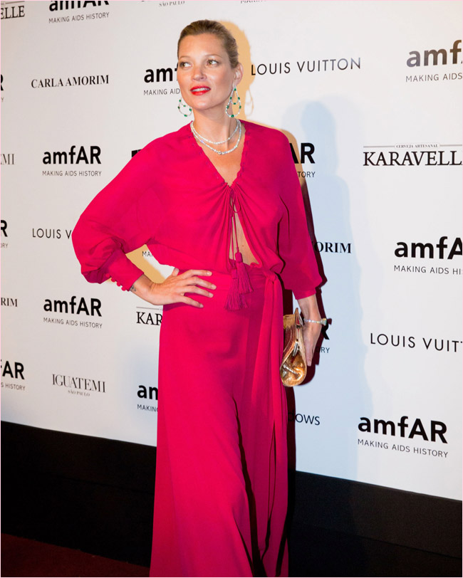 Kate Moss at the amfAR Gala April 2014 on Exshoesme.com