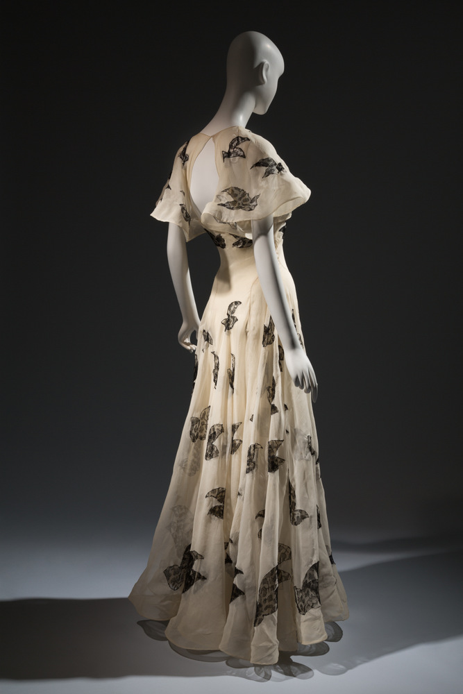 Madeleine Vionnet Gown Ivory silk organza with black lace insets 1937, France Collection of Beverley Birks