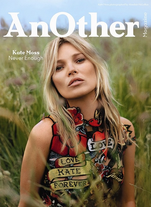 Kate Moss on the cover AW2014 cover of Another Magazine on Exshoesme.com Photography by Alasdair McLellan, Styling by Alister Mackie