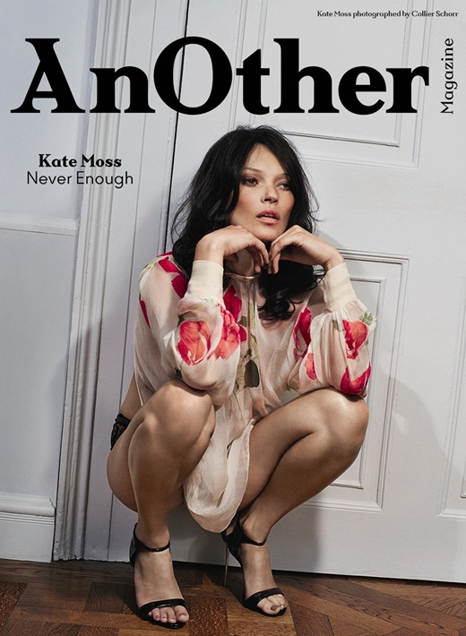 Kate Moss on the cover AW2014 cover of Another Magazine on Exshoesme.com Photography by Collier Schorr, Styling by Katy England