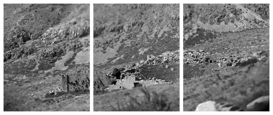 """Het theater van Sagalassos bood plaats aan 9000 toeschouwers, een aantal dat hoger ligt dan het maximale bewonersaantal van de stad zelf. Dit komt omdat de """"eerste stad van Pisidia"""" grootschalige festivals organiseerde, waarop bezoekers uit heel Pisidia toestroomden © Bruno Vandermeulen, Danny Veys & Sagalassos Project"""