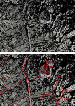 Het vermoedelijke 'Kasteel van Nieuwlande' (op basis van Navteq 2010, Bing Maps)