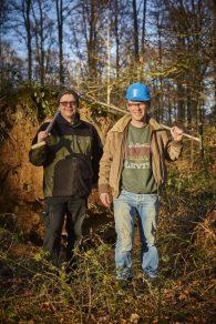 Jari en Yannick zijn twee van de laatste échte archeobodemkundigen in Vlaanderen. © Kris Vandevorst