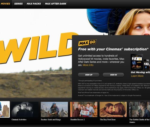 Streaming Cinemax Live