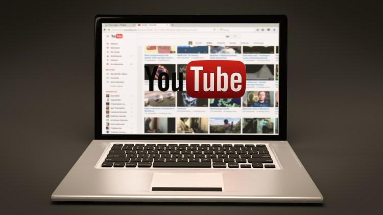 Youtube ouvert sur un ordinateur