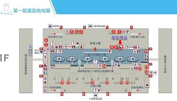 桃機第一航廈圖